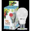 LED-A60-standard 7W 220V 600lm 4000K E27 светодиод. лампа ASD