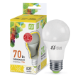 LED-A60-standard 7W 220V 630lm 3000K E27 светодиод. лампа ASD