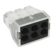 Строительно-монтажная клемма СМК, модель 106, 6 отверстий, 1.0-2.5мм2 (уп.50шт.)